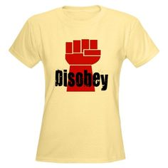 Disobey T-Shirt. Good way to let people know that you are not a sheeple. #disobey #rebel #freethinker