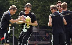 That went well! Philipp Lahm and Thomas Muller pulled off a stunt on stage in Germany on Tuesday