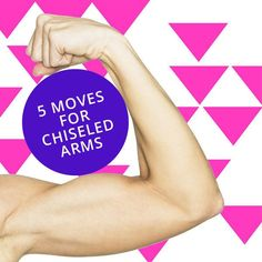 Get toned and chisled arms with these effective arm exercises from personal trainer Katherine Kado Simmons. Get toned and chisled arms with these effective arm exercises from personal trainer Katherine… Body Fitness, Fitness Diet, Health Fitness, Fitness Weightloss, Workout Fitness, Pump It, Sculpter Son Corps, Good Arm Workouts, Just In Case