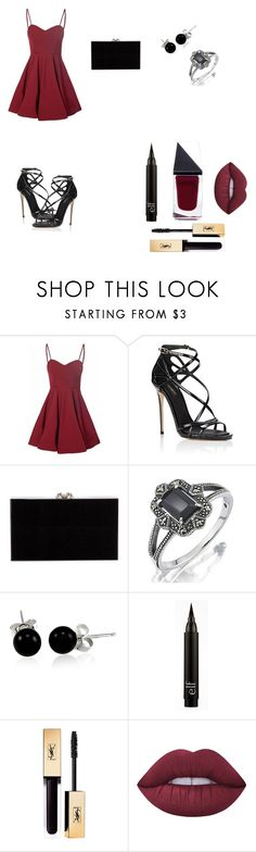 """""""Burgundy And Black"""" by reagan-elixabeth ❤ liked on Polyvore featuring Glamorous, Dolce&Gabbana, Charlotte Olympia, Bling Jewelry, Lime Crime, GUiSHEM and jjrocks"""