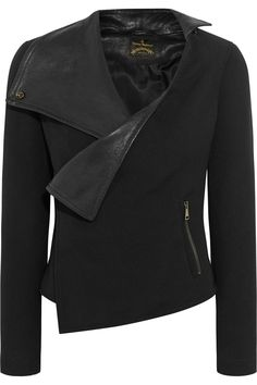 Vivienne Westwood Anglomania Voodoo leather-paneled cady jacket