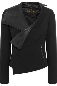 Vivienne Westwood Anglomania Voodoo leather-paneled cady jacket