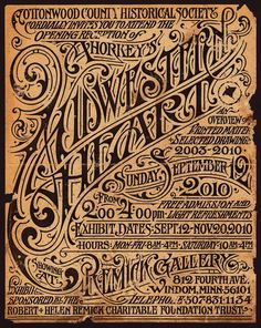Beautiful poster for Aaron Horkey's Midwestern Heart Gallery Show.