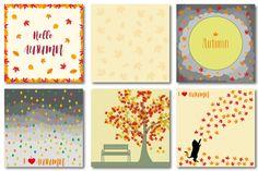 Autumn set of patterns #4 by Orangepencil on @creativemarket