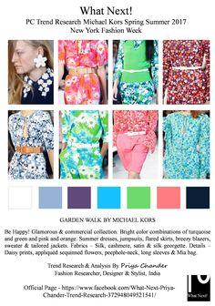 #MichaelKors #fashion #SS17 #NewYorkFashionWeek #priyachander #fashionresearch…