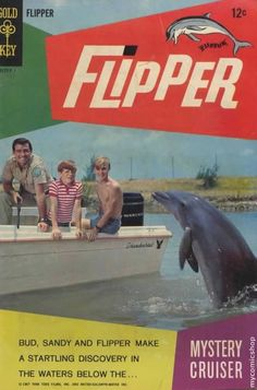 Flipper Comic Book by Gold Key, 1967 Tv Vintage, Vintage Comic Books, Vintage Comics, Childhood Tv Shows, My Childhood Memories, Childhood Friends, Mejores Series Tv, Old Tv Shows, Tv Guide