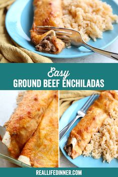 Who knew mixing cream of mushroom soup, tomato sauce, and some spices together could make for such a delicious enchilada sauce. My kids gobble this up! I can't wait for you to try it! Bhg Recipes, Mexican Food Recipes, Great Recipes, Creamed Mushrooms, Stuffed Mushrooms, Ground Beef Enchiladas, Enchilada Sauce, Mushroom Soup, Tomato Sauce