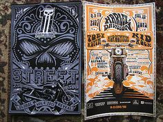 Harley-Davidson 110th Anniversary Lot of 2 Posters Street Motorcycle 2013 NEW