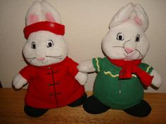Max and Ruby Plush Set of 2 Holiday Christmas Winter Dolls 10 inch SO CUTE