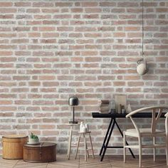 Brick Wallpaper Australia Trendy Wallpaper, Cool Wallpaper, Wallpaper Designs, Wallpaper Ideas, Stone Wallpaper, Grey Brick Effect Wallpaper, Exposed Brick Wallpaper, Interior Design For Dummies, Interior Ideas