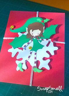 "Sobre de regalo motivo: ""Fatina di Natale"" 19x14cm"