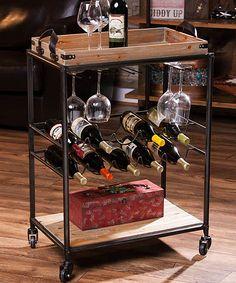 Rustic Wine Cart | zulily