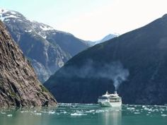 Alaskan Christian Cruise Pictures: Cruise Ship in Tracy Arm
