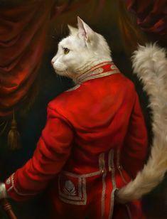 Los gatos del museo Hermitage no sólo custodian millones de obras de arte: ellos mismos han sido transformados en cuadros por Eldar Zakirov.