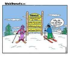 Ski Dangers Cartoon