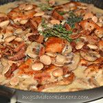 CHICKEN WITH MUSHROOM & ONIONS IN AN ASIAGO CREAM SAUCE...LIGHTENED UP! - Hugs and Cookies XOXO
