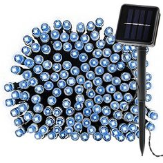 $19.99  - Solar LED Fairy Lights 39Ft 100 LED Waterproof Starry Light for Home Lawn Ambiance Garden Christmas Tree Holiday Seasonal Decoration Blue *** Details can be found by clicking on the image. (This is an affiliate link) #StringLights