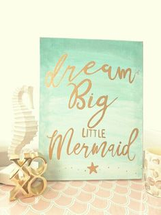 Create a luxurious and unique decoration for the kids room with these mermaid themed projects.