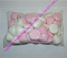 Pink and White Marshmallow Puffs
