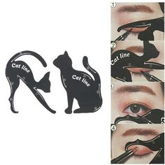 Cat Eye Eyeliner Stencil Makeup Eyes Liner Stencil Models Eyeshadow - Eyeshadow template