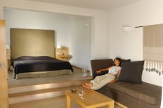 The junior Suite of approx. 40 square meters is situated in our beautiful gardens. Minos Beach Art #Hotel