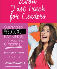 Great opportunity for leadership representatives at Avon Canada!  www.feannyxu.com  Let me help you to earn on your own term.  #AvonCanada #joinAvon #earnfromhome #workfromhome #residualincome #greatopportunity #freedom #DreamBig