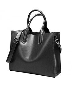 Oil Wax Leather Women Top Handle Satchel Handbags Shoulder Bag Purse Messenger Tote Bag - Black - CX18337Z32K  #Bags #Handbags #Totebags #gifts #Style