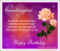 Free Ecards Greeting With Peach Roses Gif Animation For Granddaughter