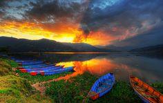 phewa tal, pokhara, nepal