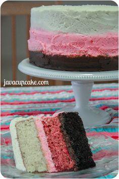 I WANT THIS FOR MY BIRTHDAY CAKE!!! IM 41 SUNDAY.  True Neopolitan Cake