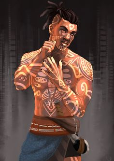 Like Drawing Image Fantasy of forms the Face Book Black Anime Characters, D D Characters, Fantasy Characters, Fantasy Character Design, Character Design Inspiration, Game Character, Character Concept, Tribal Warrior, Black Artwork