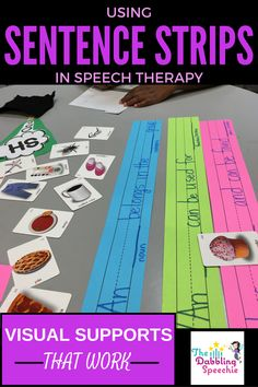 Using Sentence Starter Strips in Speech Therapy. Repinned by SOS Inc. Resources pinterest.com/sostherapy/.