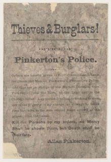 History of Pinkerton: http://www.pinkerton.com/history