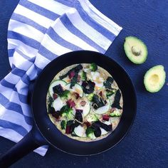 Green veg & kraut chickpea omelette