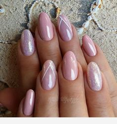 Top 33 Classic Mauve Nail Art Creative Mauve Nail Designs to Inspire You Trends 2018 Mauve nail is one in all the foremost uncommon and exquisite shades that ar extremely standard recently. there's no surprise why since mauve shade cons Nail Art Designs, Bridal Nails Designs, Cute Acrylic Nails, Fun Nails, Mauve Nails, Almond Nails Designs, Uñas Fashion, Wedding Manicure, Malva