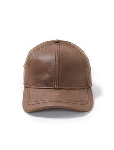 ed21b1f824e Stetson Oily Timber Leather Ball Cap