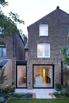 Beechdale House, London / Paul Archer Design In the original ground floor layout the kitchen was isolated from the rest of the Beechdale house, particularly the two elegant reception . Extension Veranda, Brick Extension, House Extension Design, Glass Extension, Extension Ideas, Victorian Terrace House, Victorian Homes, Patio Design, House Design