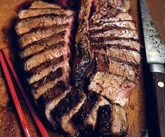 Grilled Porterhouse with Shallots and Potatoes