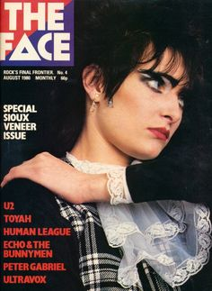 """""""zombiesenelghetto: Siouxsie Sioux, photo by Sheila Rock, The Face August 1980 via """" Siouxsie Sioux, Siouxsie & The Banshees, The Face Magazine, Punk Magazine, Echo And The Bunnymen, Pekinese, Zen, Peter Gabriel, Cinema"""