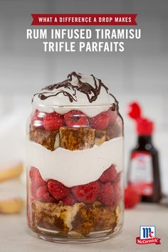 Individual tiramisu parfaits give your breakfast a caffeinated boost with sweet layers of cream cheese, cinnamon, ginger and coffee. Add a drop of McCormick Rum Extract for a flavor twist this holiday season.