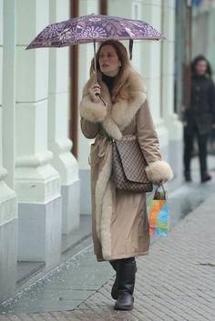 Fur Lined Raincoat