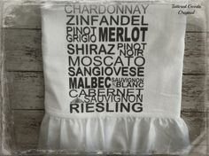 Handmade Flour Sack Tea Towel Farmhouse Cottage by tatteredgoods