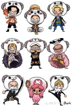 Merry's version of Ace, Luffy, Sabo, Corazon, Law, Doflamingo, Zoro, Chopper and Sanji