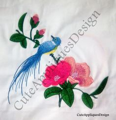 Floral Embroidery Design No 1157 by CuteAppliquesDesign on Etsy