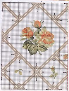 Yellow roses. Seems to be for a runner. No instruction but I liked the chart and thought I could use it some way.