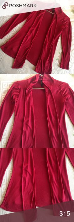 Women's maroon or burgundy Cardigan full sleeve Good condition.  Open front. Light weight. Perfect for spring or summer 💕 Don't accepts offers under $10. Bundle up and offer me 😊. 💕 Will give huge discounts on huge amounts.  💕 Alway consider reasonable offers.  💕 Comment below if you have questions.  💕 Interested in seen video of the item then comment below. ✨THANKS FOR VISITING MY PROFILE. 🙏🏽  Checkout my profile for bags, shoes, pants, dresses, tops, coat, skirts, accessories…