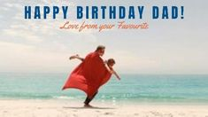Love from your favourite. A sweet background video of a father and son at the beach dressed as superheroes.