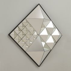 OP art influenced Verner Panton Diamond Pyramid Mirror
