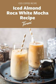 Our Iced Almond Roca® White Mocha recipe is made with Torani White Chocolate Sauce, Torani Almond Roca® Syrup, milk, espresso, and ice. This iced white mocha is an easy recipe to make at home. Enjoy this white mocha recipe as your morning coffee or your afternoon pick me up. Create your perfect mocha here! Salted Caramel Latte Recipe, Mocha Recipe, Caramel Recipes, Easy Recipe To Make At Home, Milk Cafe, Coffee Drink Recipes, Coffee Drinks, Almond Roca, Iced Latte