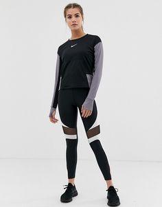 a8cdba6bba8b Nike Running Speed Leggings In Black with Cutout